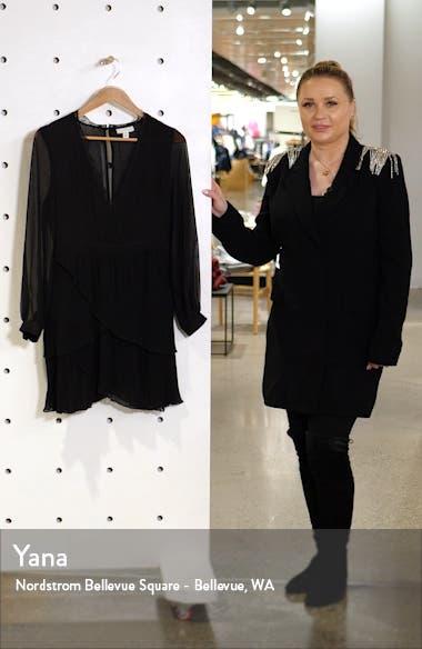 Long Sleeve Pleat Minidress, sales video thumbnail