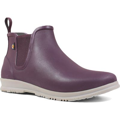 Bogs Sweetpea Chelsea Rain Boot, Purple