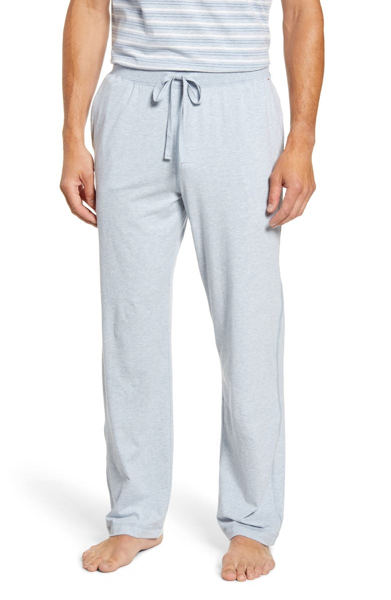 DANIEL BUCHLER Stretch Cotton & Modal Pajama Pants, Main, color, BLUE HEATHER
