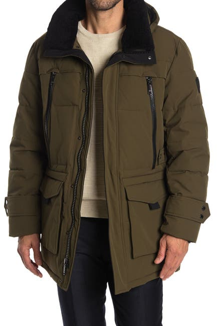 Image of Vince Camuto Faux Fur Lined Hooded Utility Parka