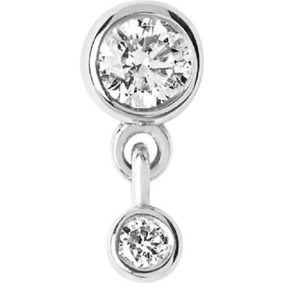 Maria Black Mini Me Diamond Dangle Single Stud Earring