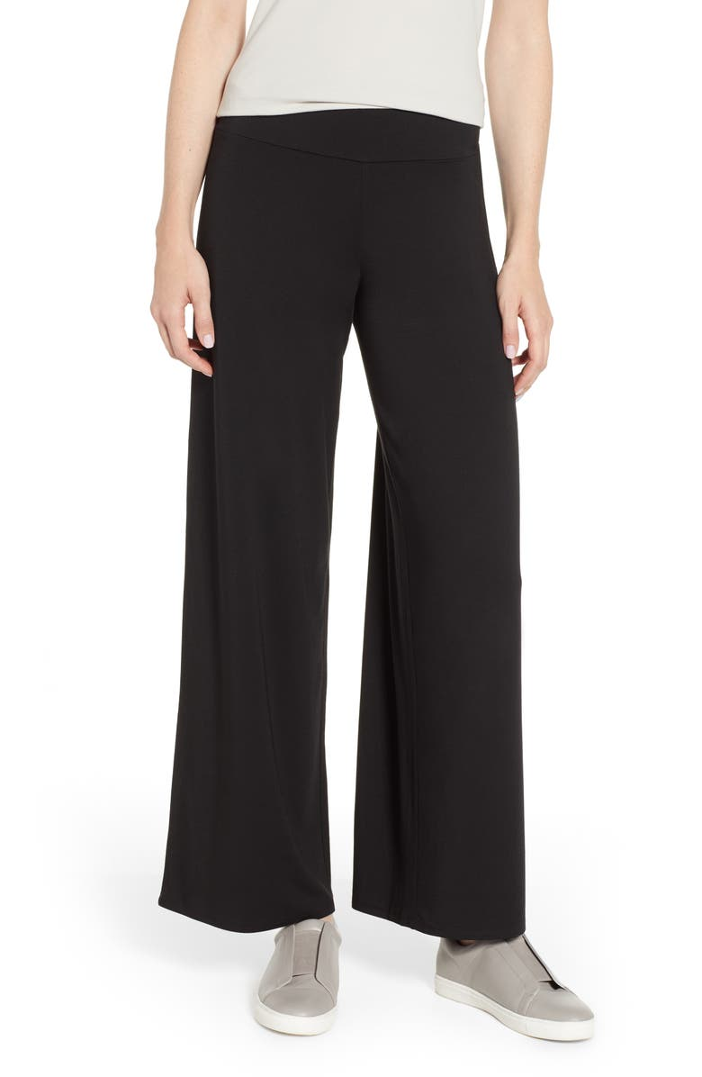 NIC+ZOE Ease Pants, Main, color, BLACK ONYX