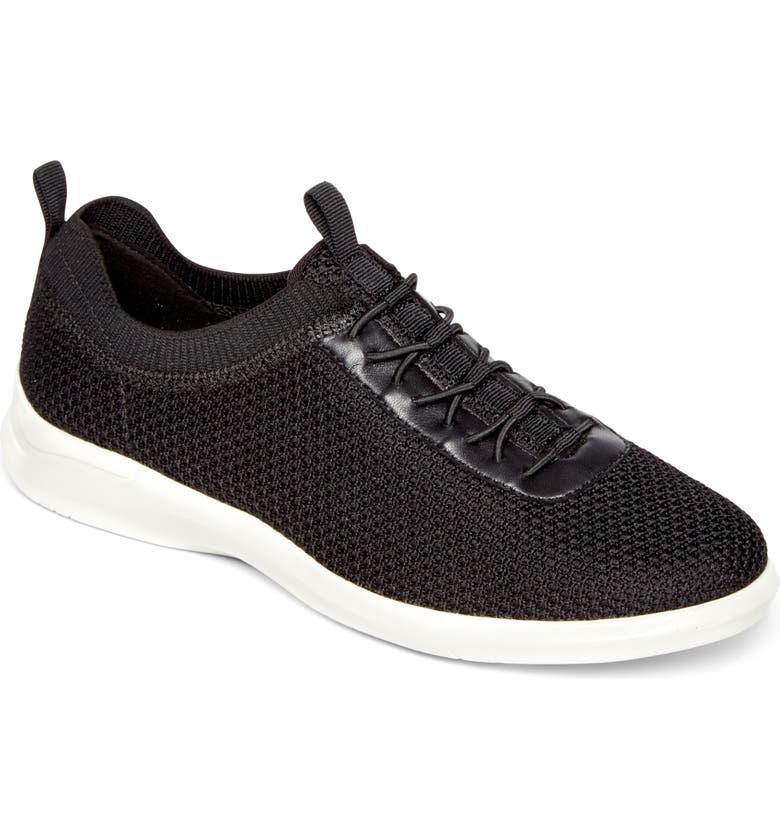 ARAVON PC Slip-On Sneaker, Main, color, BLACK FABRIC