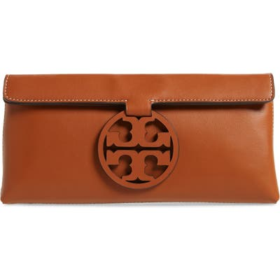 Tory Burch Miller Leather Clutch -