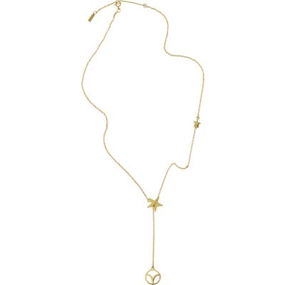 Adornia Aries Zodiac Lariat Necklace