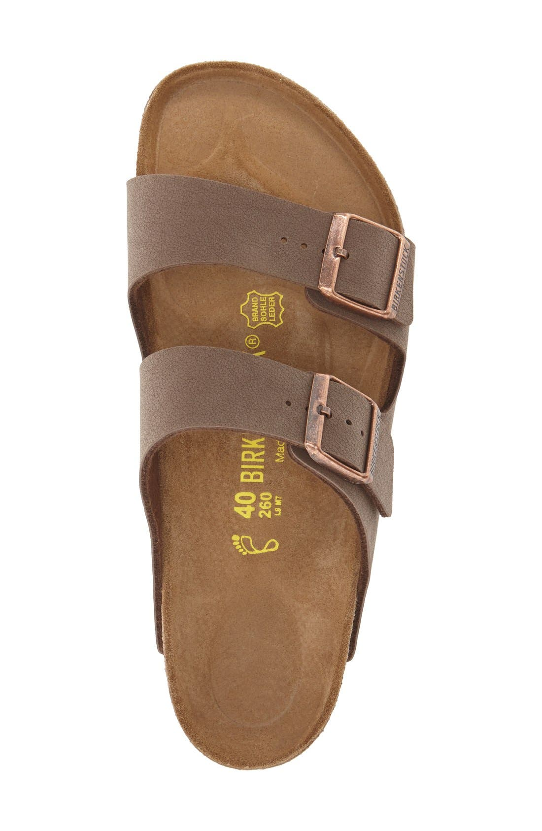 ,                             'Arizona' Slide Sandal,                             Alternate thumbnail 3, color,                             MOCHA