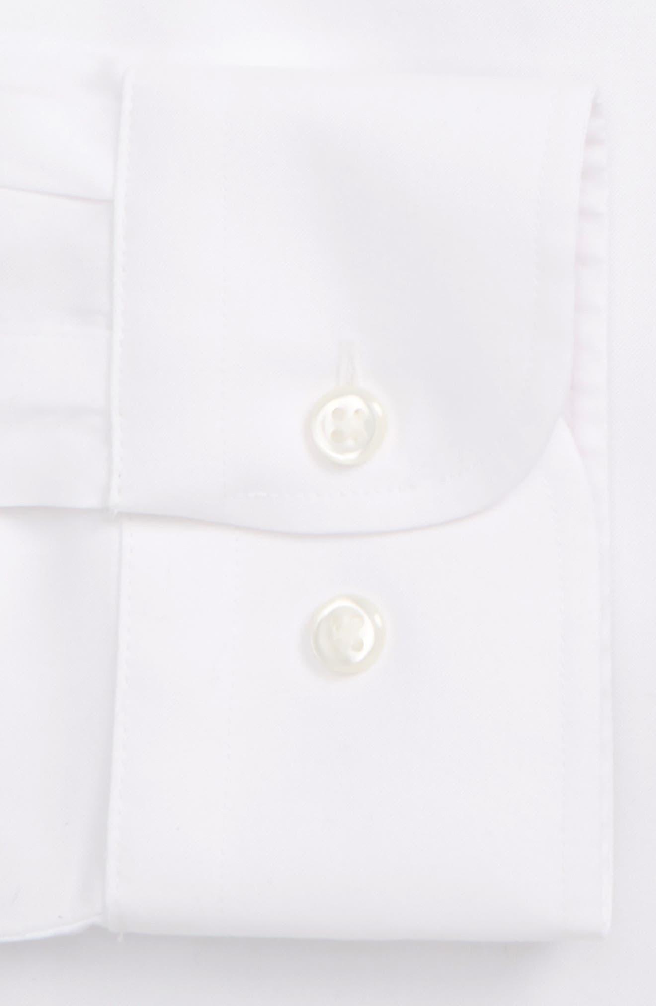 ,                             Smartcare<sup>™</sup> Trim Fit Solid Dress Shirt,                             Alternate thumbnail 6, color,                             WHITE BRILLIANT