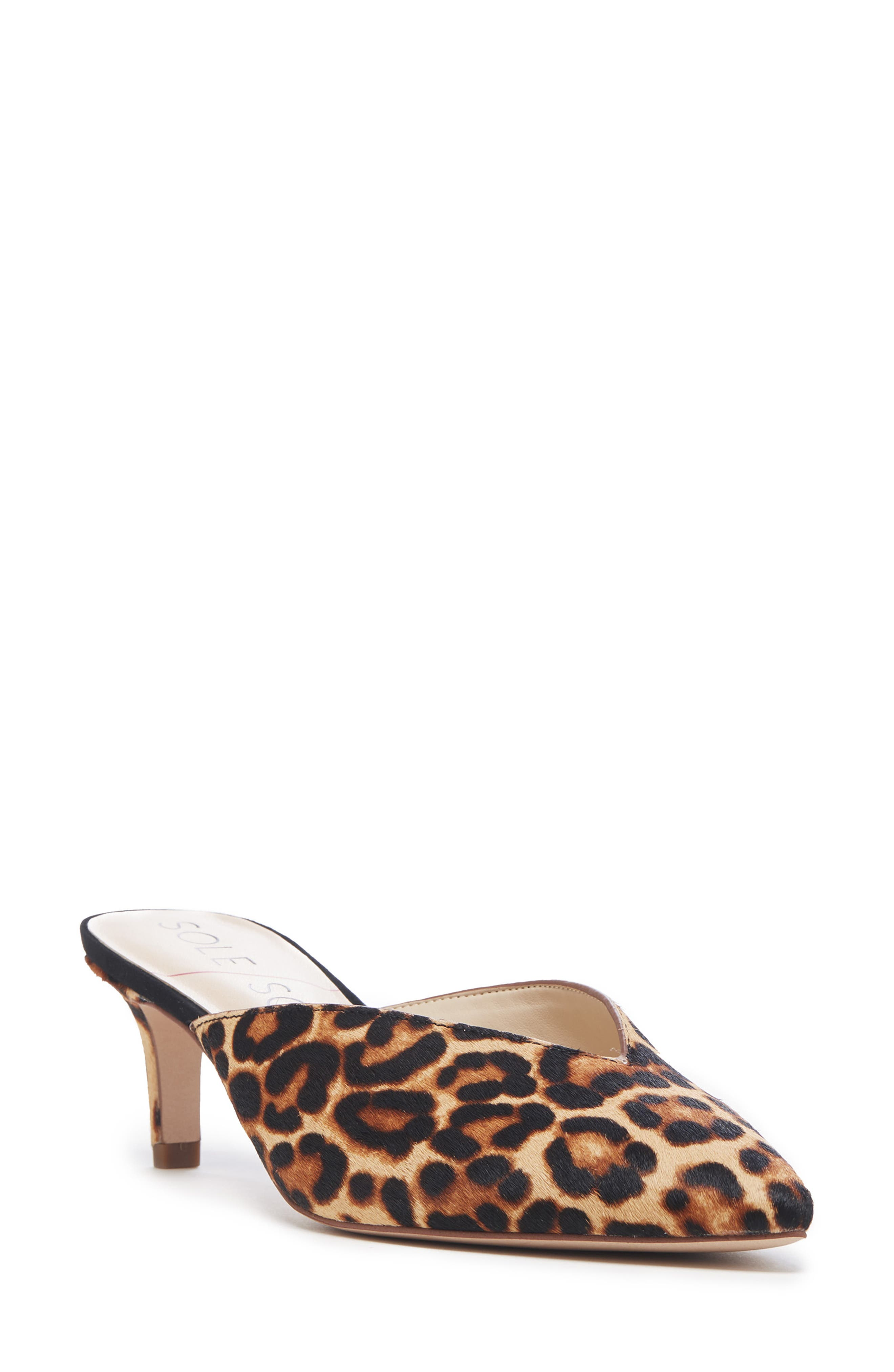 Sole Society Maleah Pointy Toe Mule, Brown