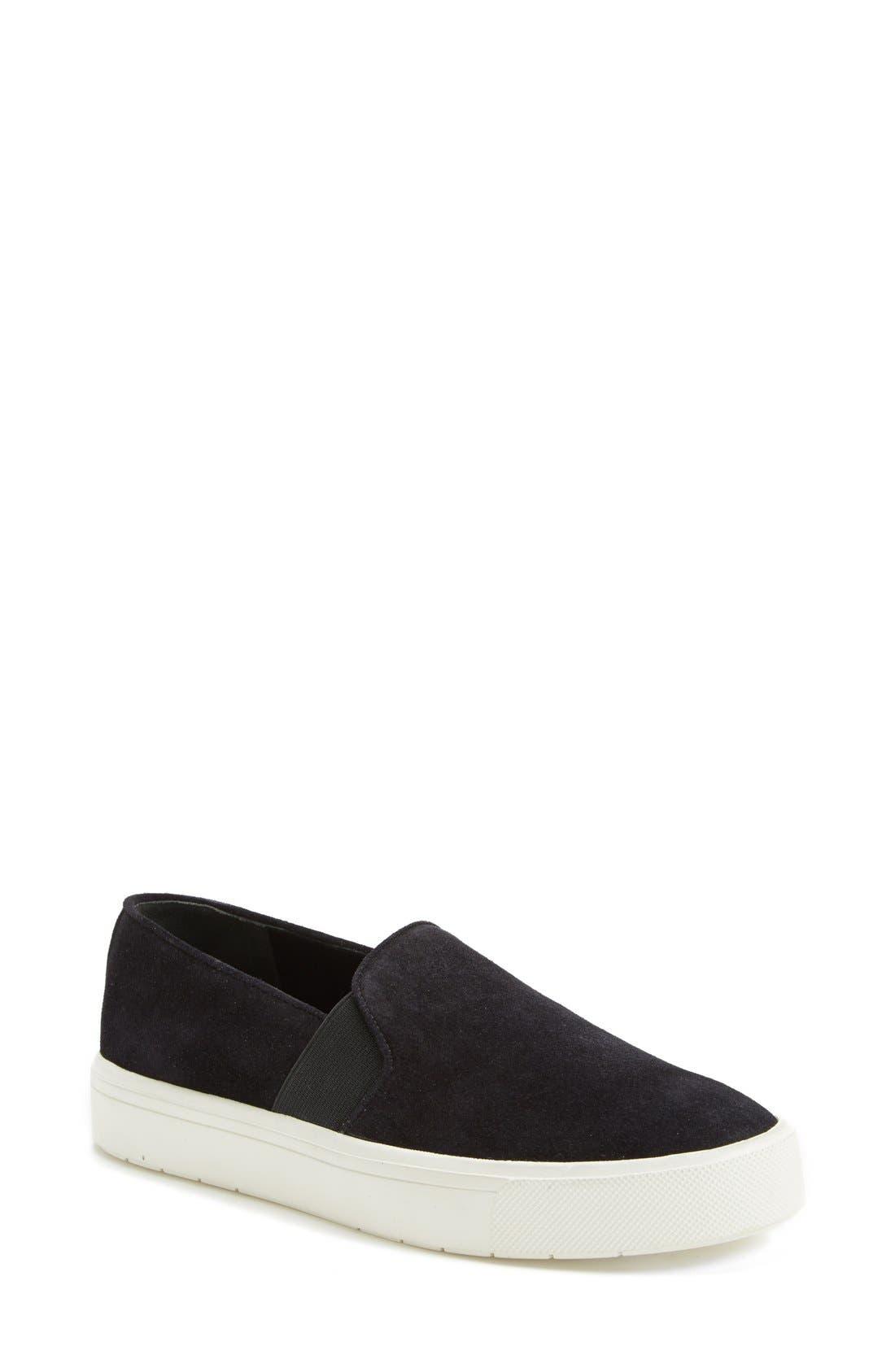 'Berlin 6' Slip-On Suede Sneaker, Main, color, 001