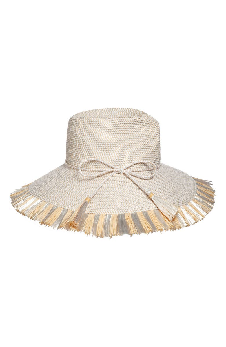 ERIC JAVITS Antigua Squishee<sup>®</sup> Tropical Sun Hat, Main, color, WHITE MIX