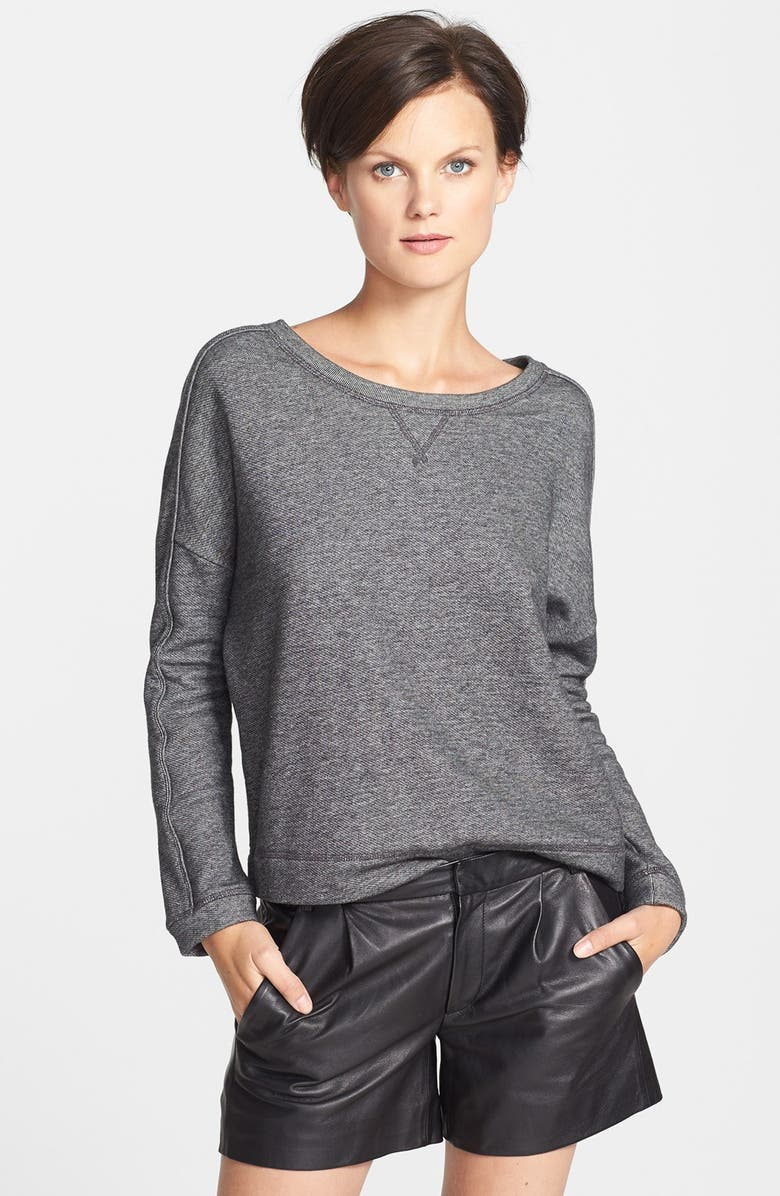VINCE Piped Sweatshirt, Main, color, 020