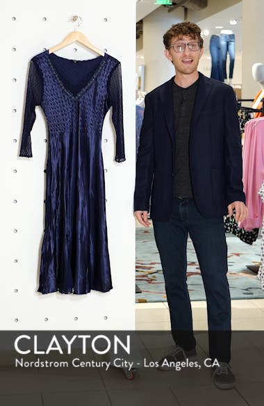 Kamarov Charmuese & Chiffon Dress, sales video thumbnail