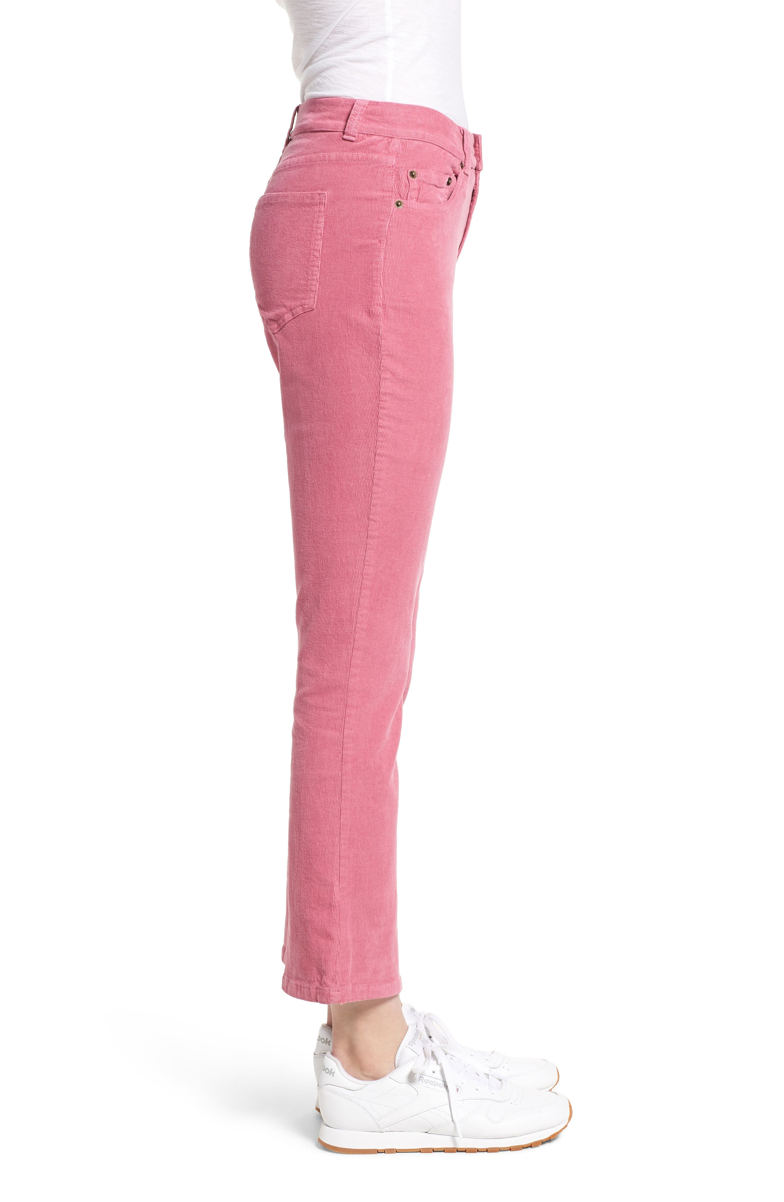 ,                             Corduroy Slim Crop Flare Pants,                             Alternate thumbnail 10, color,                             659