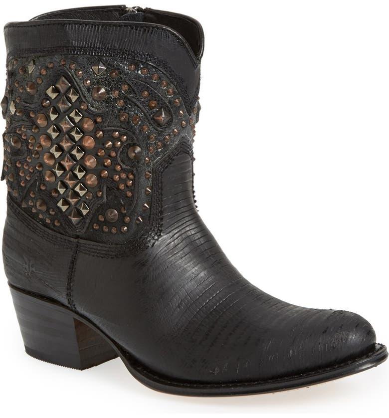 FRYE 'Deborah Deco' Short Western Boot, Main, color, 001