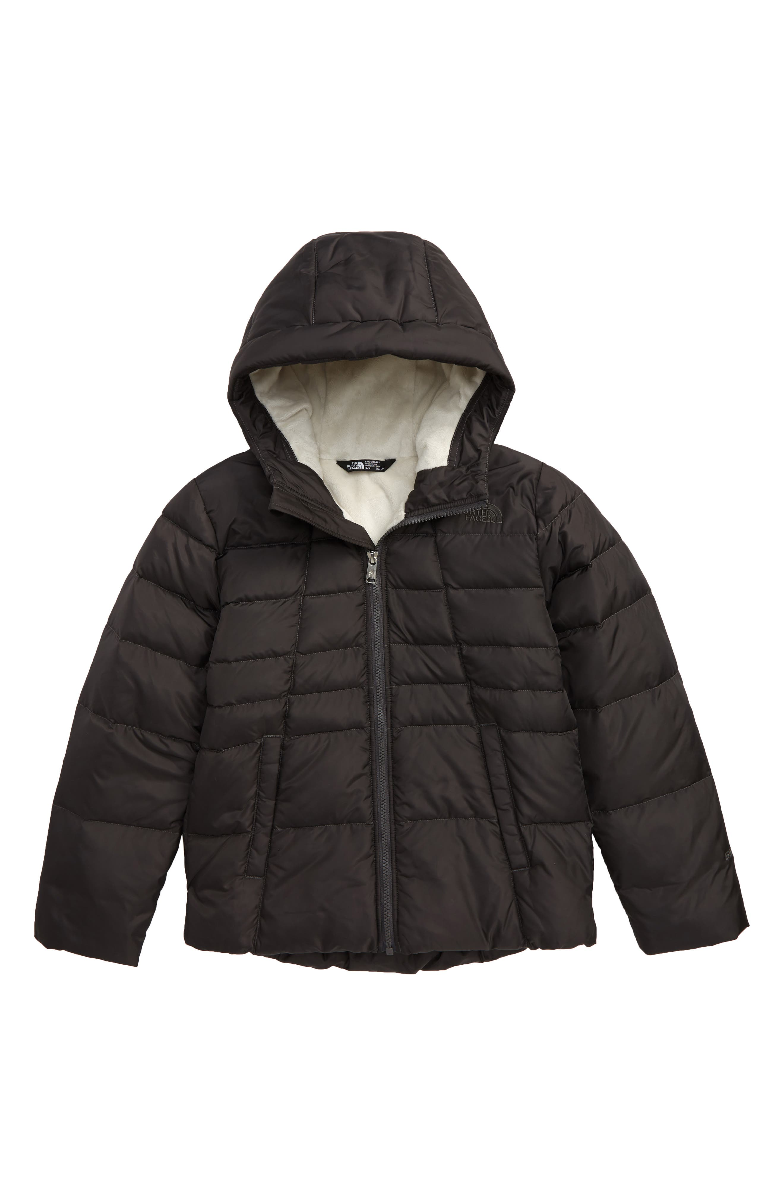 Girls The North Face Moondoggy Water Repellent Reversible Down Jacket