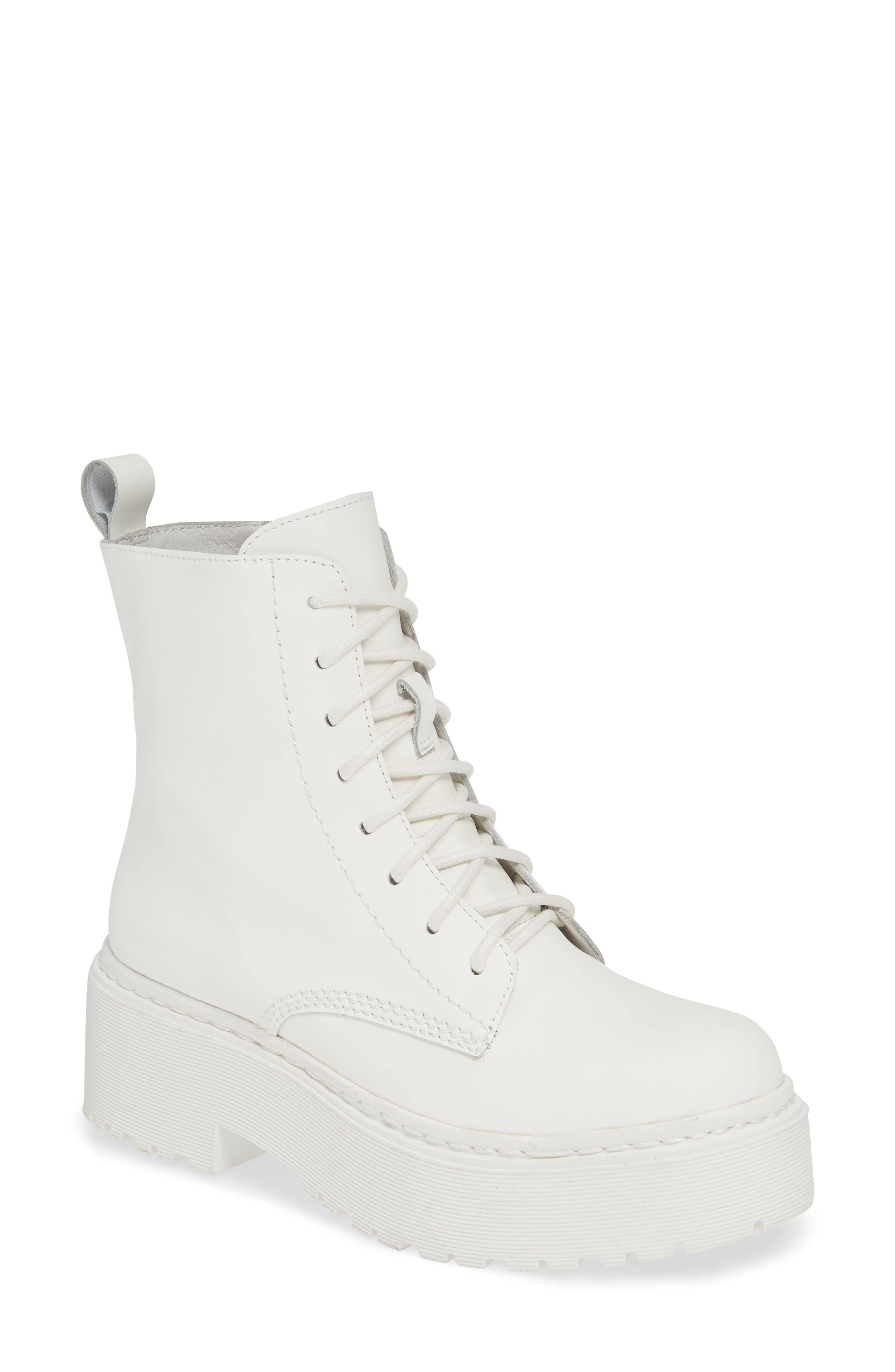 Jeffrey Campbell District Combat Boot, White