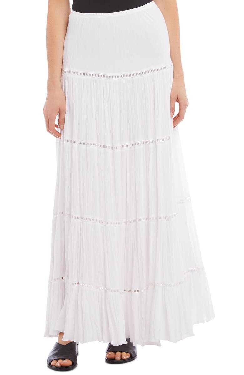 KAREN KANE Open Inset Maxi Skirt, Main, color, OFF WHITE