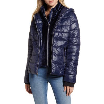 Marc New York Hooded Puffer Jacket, Blue