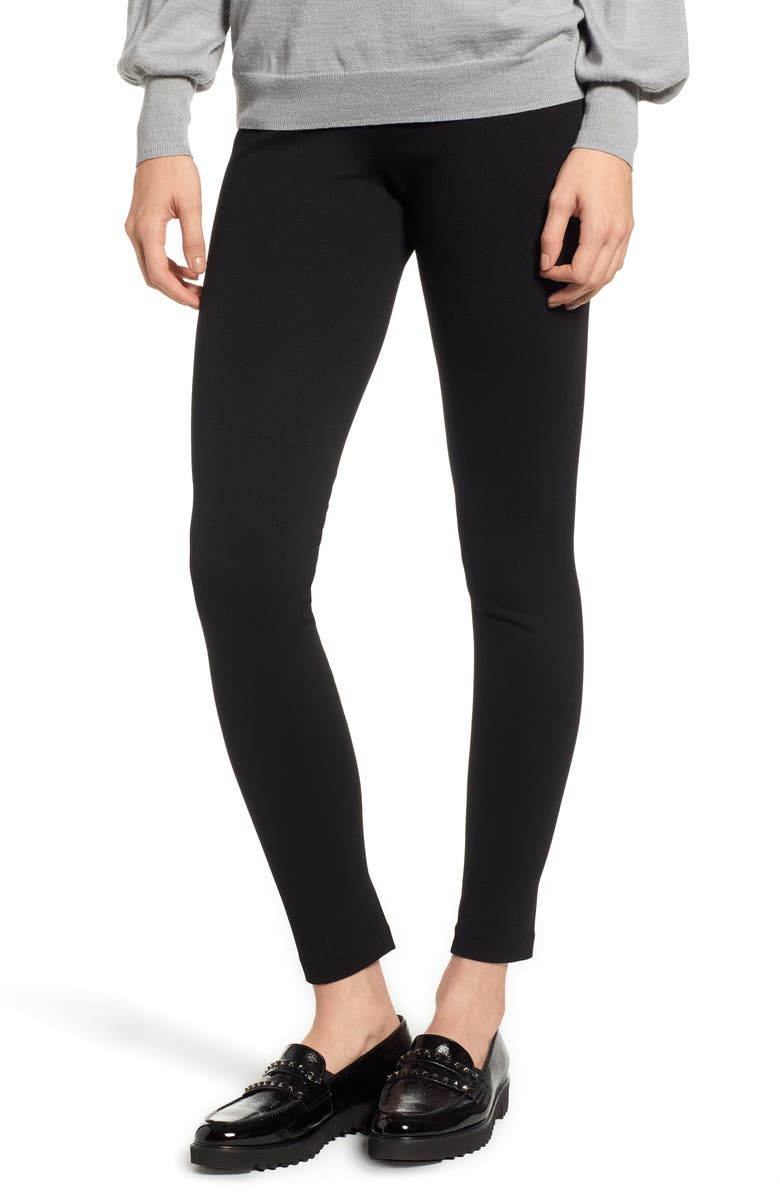 TWO BY VINCE CAMUTO Seamed Back Leggings, Main, color, RICH BLACK
