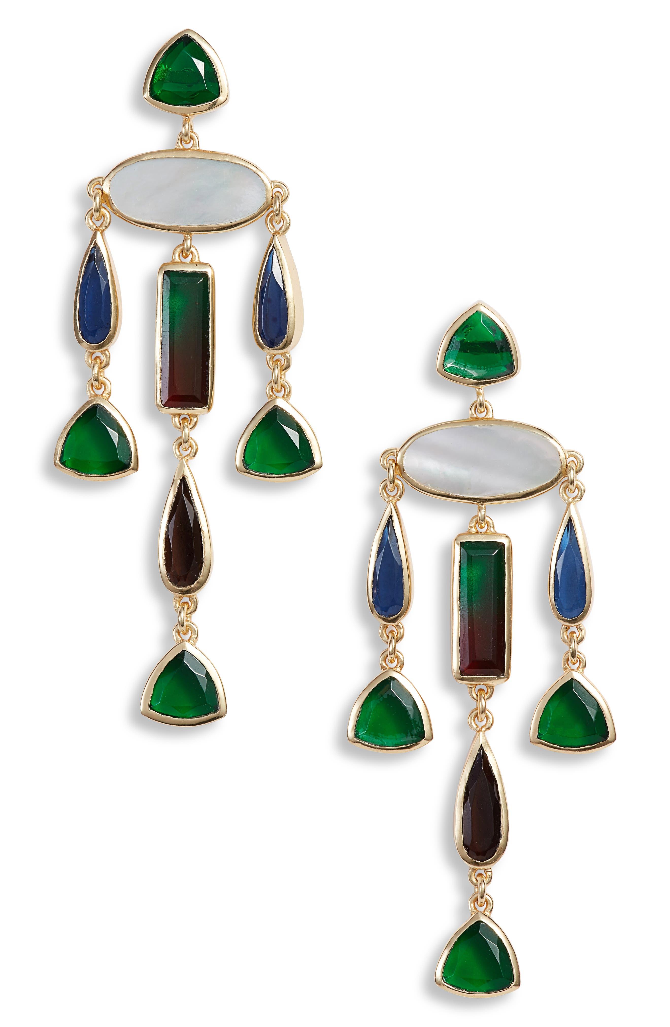 Image of Sole Society Chandelier Earrings