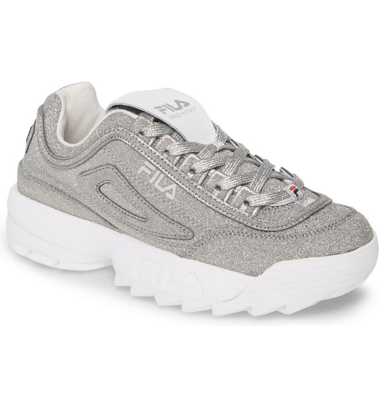 FILA Made In Italy Disruptor 2 Glitter Sneaker, Main, color, 040