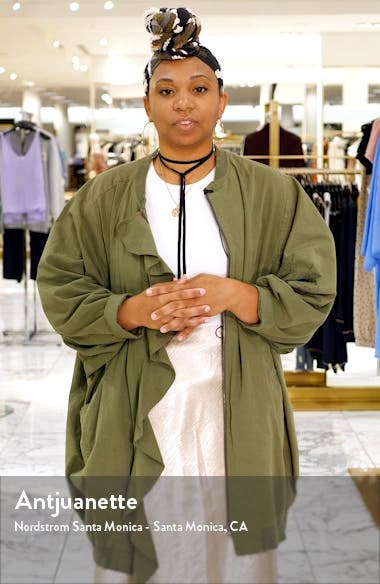 Floral Lace & Satin Gown, sales video thumbnail