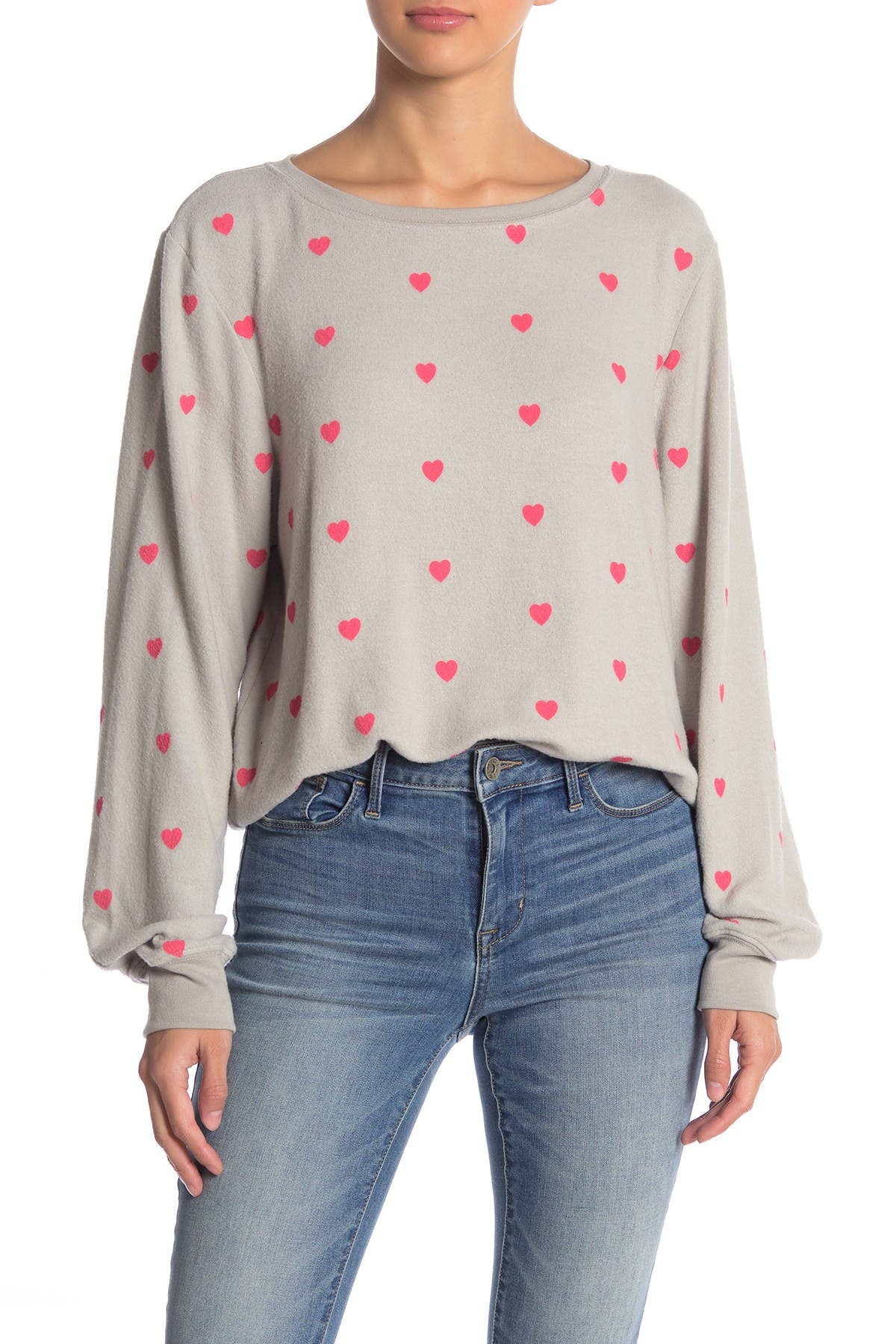 Image of WILDFOX Essential Hearts Graphic Pullover