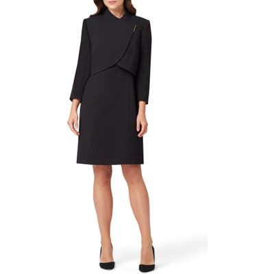 Tahari Sheath Dress & Cropped Jacket, Black