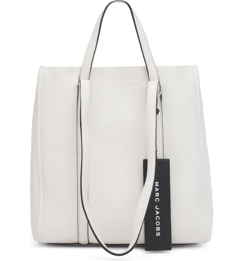 THE MARC JACOBS The Tag 27 Leather Tote, Main, color, PORCELAIN