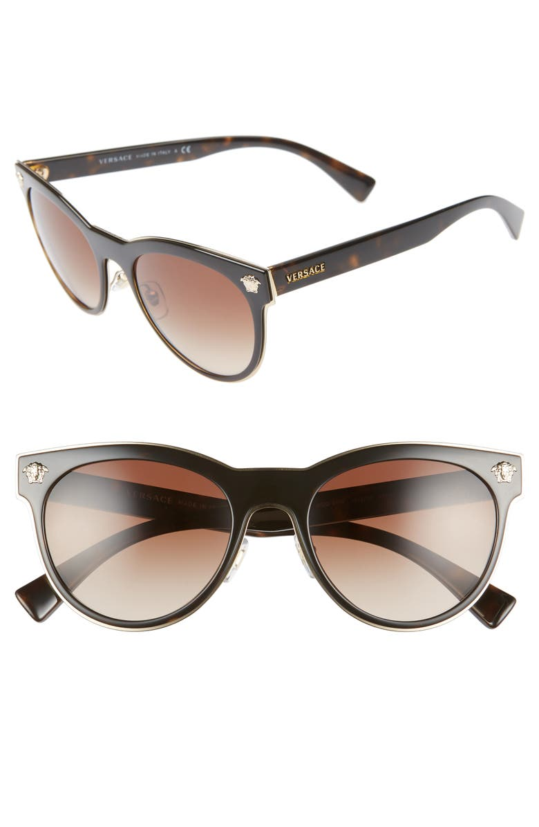 Versace 54mm Gradient Round Sunglasses