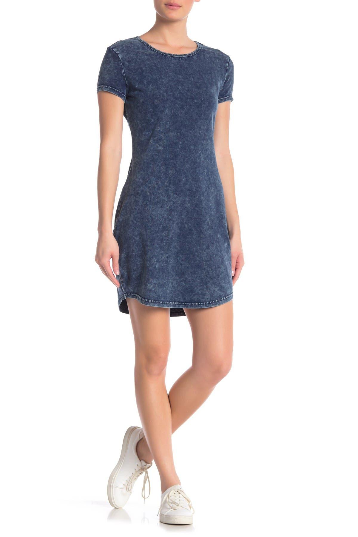 Image of RD Style Acid Wash T-Shirt Dress