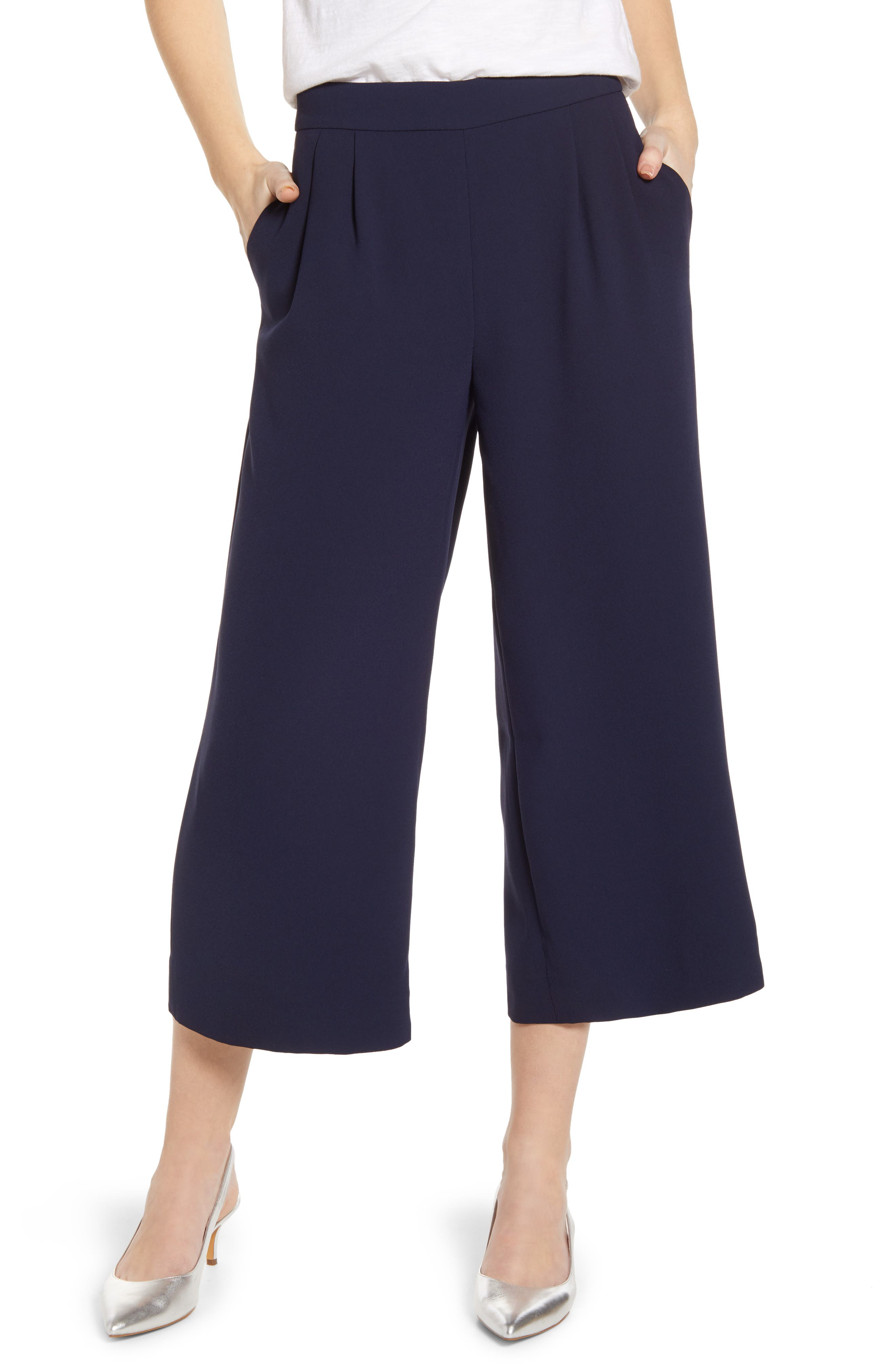 ,                             Wide Leg Crop Pants,                             Main thumbnail 5, color,                             400