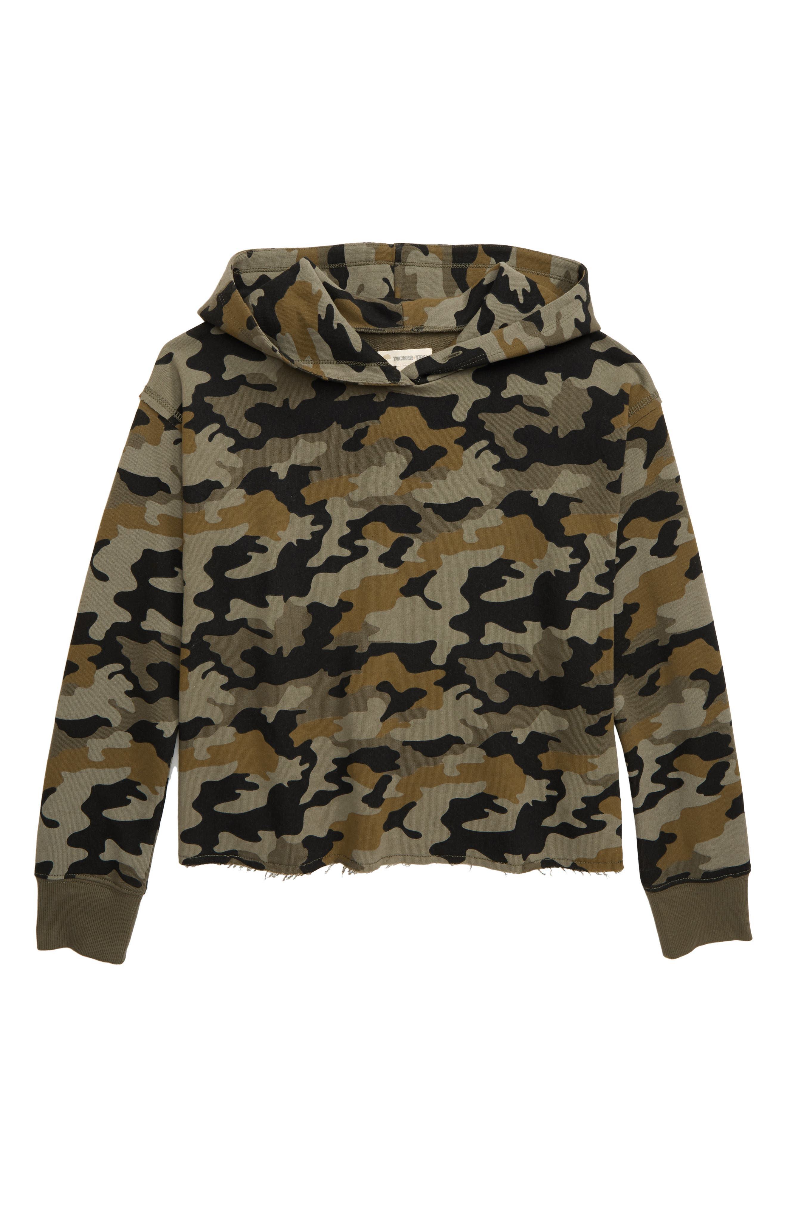 Girls Tucker  Tate Camo Print Hoodie Pullover Size M (810)  Green