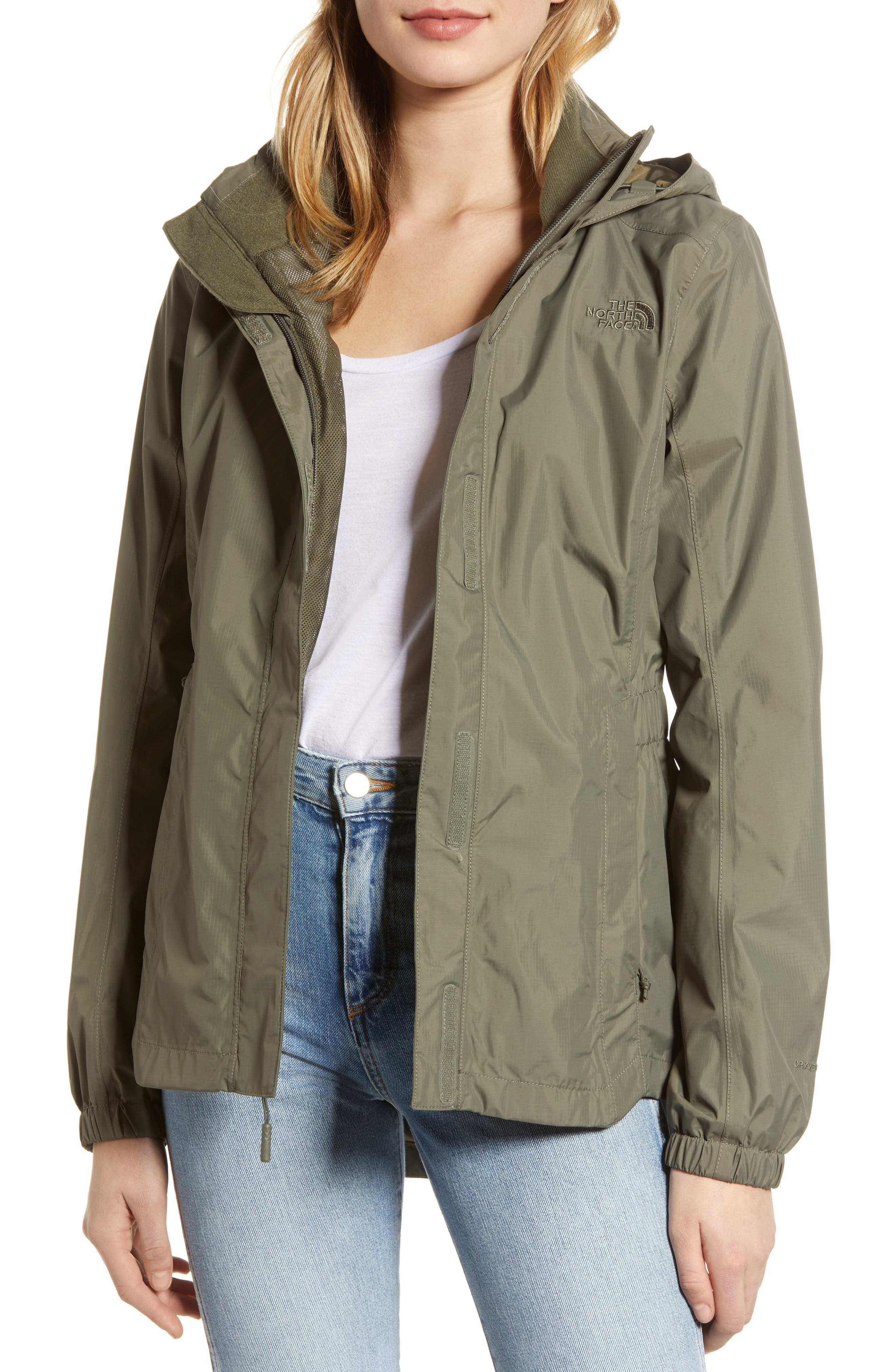 The North Face Resolve Ii Waterproof/windproof Parka, Green
