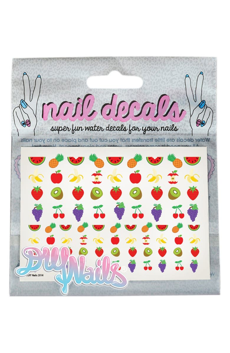 DIY NAILS 'Fruity' Nail Decals, Main, color, 000