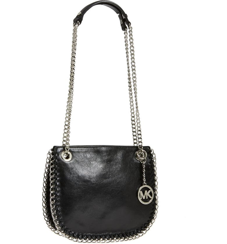 MICHAEL MICHAEL KORS 'Small Chelsea' Convertible Crossbody Bag, Main, color, 001