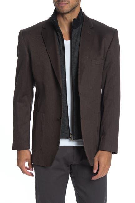 Image of English Laundry Detachable Bib Twill Sport Coat