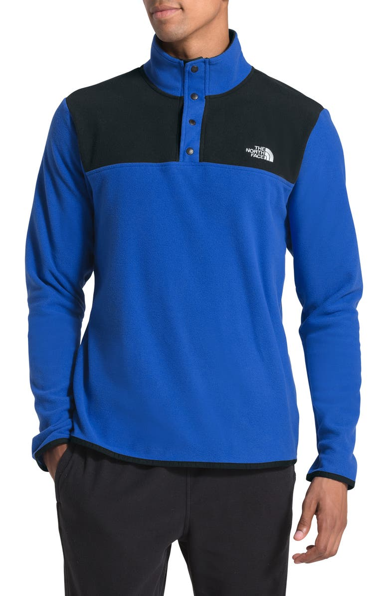 THE NORTH FACE TKA Glacier Snap Neck Pullover, Main, color, TNF BLUE/ TNF BLACK