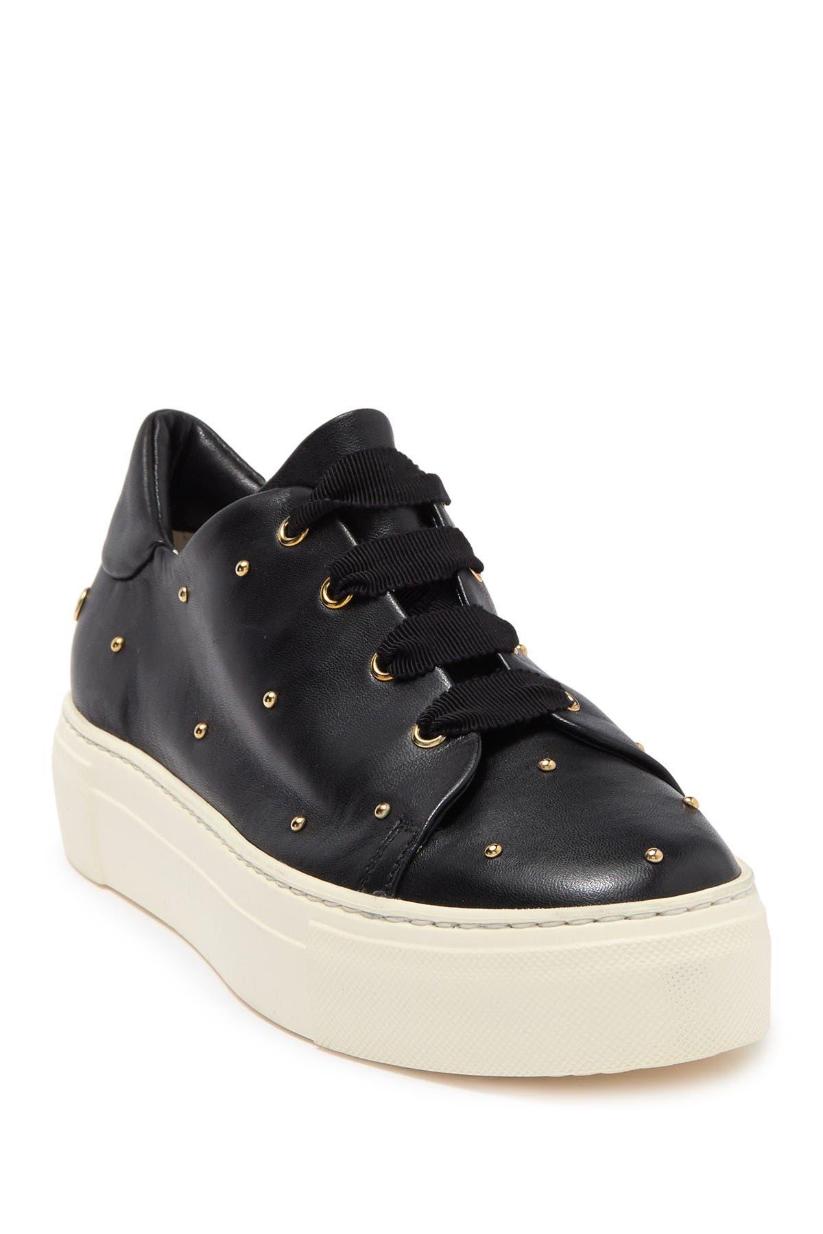 AGL | Studded Leather Platform Sneaker