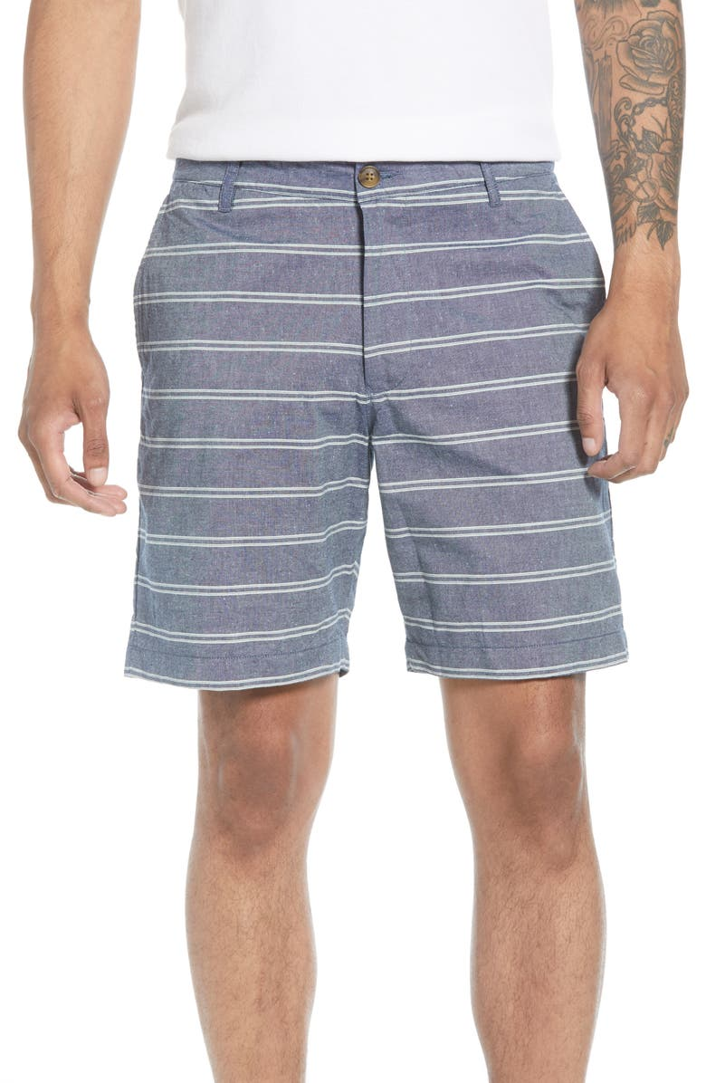 BONOBOS 7-Inch Stripe Chino Shorts, Main, color, 400
