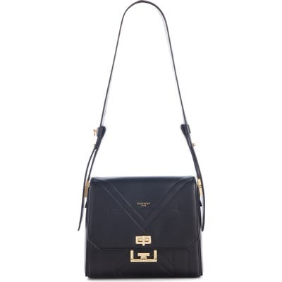 Givenchy Medium Eden Stitched Leather Shoulder Bag - Black