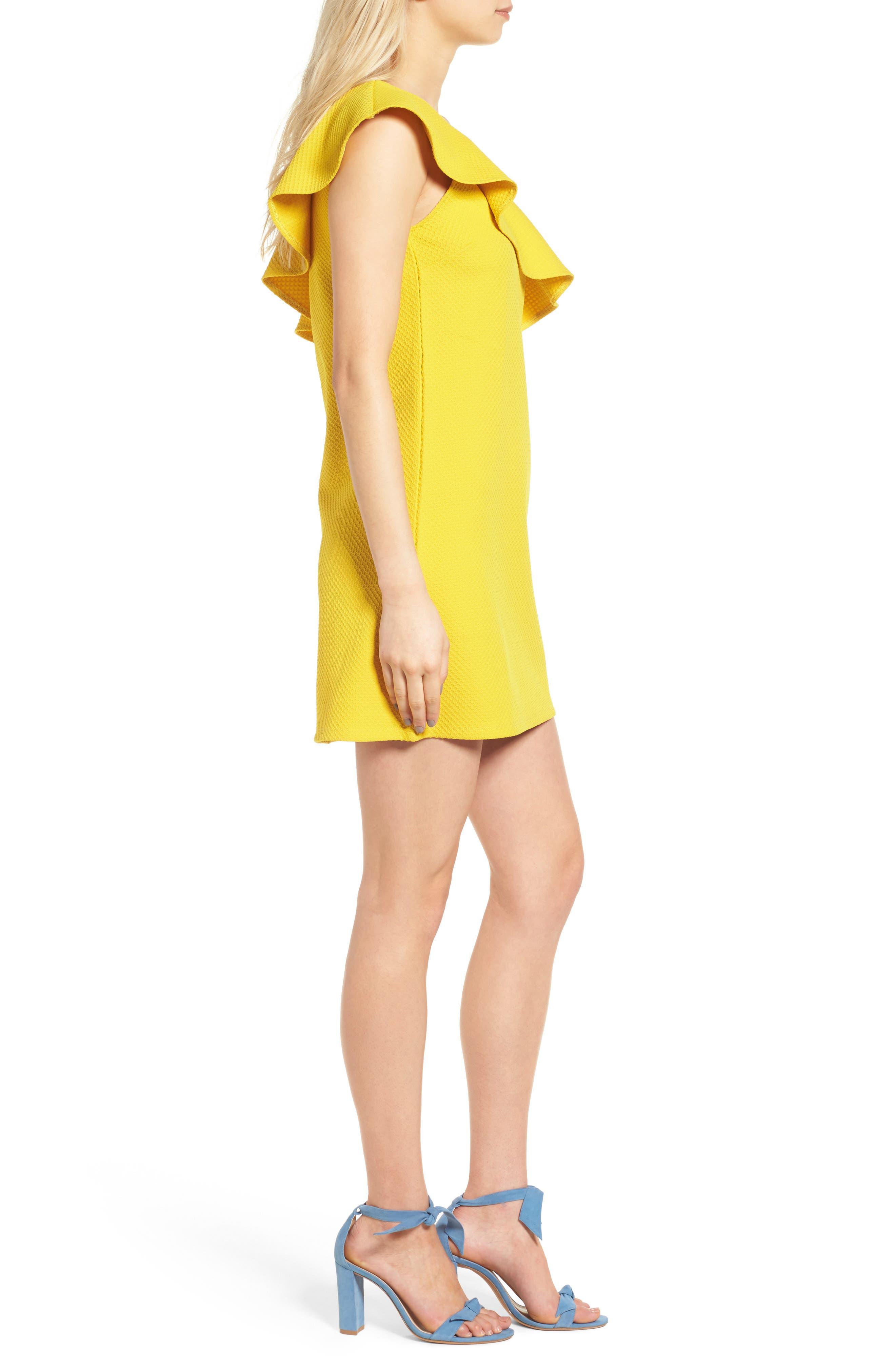 ,                             Ruffle One-Shoulder Dress,                             Alternate thumbnail 9, color,                             750