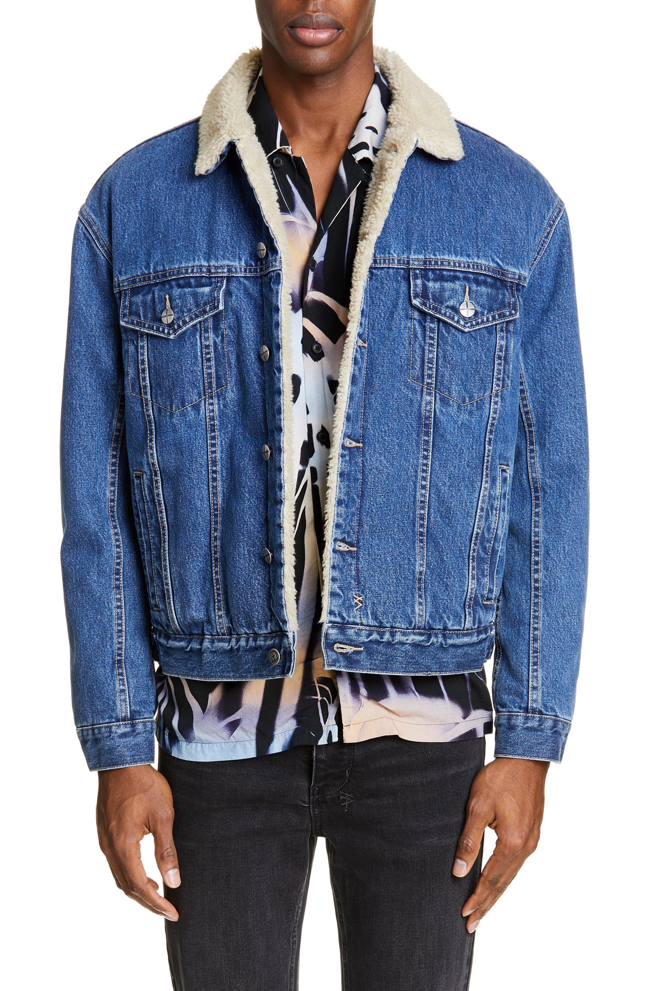 Ksubi Fleece Lined Denim Jacket, Blue