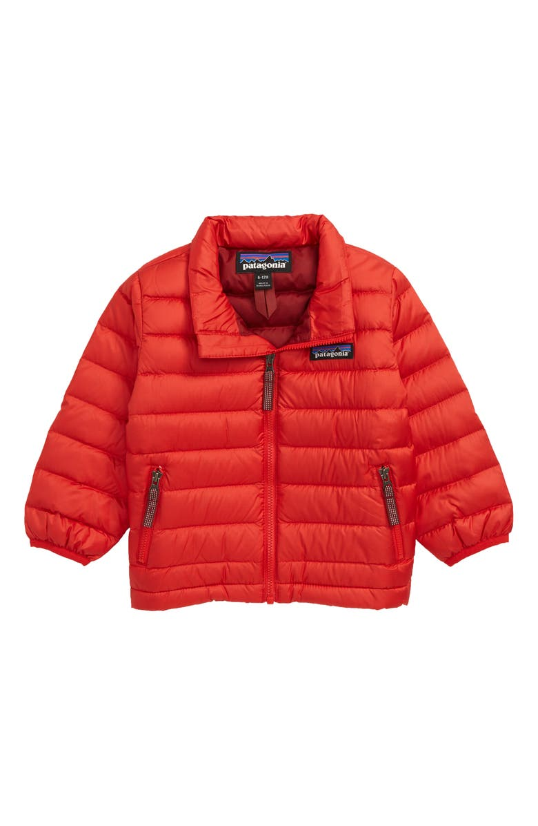 PATAGONIA Down Sweater Jacket, Main, color, FROD FIRE W/ OXIDE RED