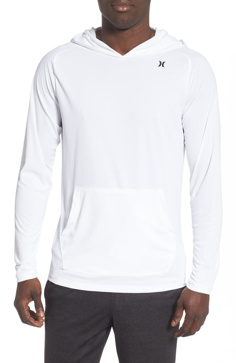 HURLEY Quick/Dry Hoodie, Main, color, WHITE