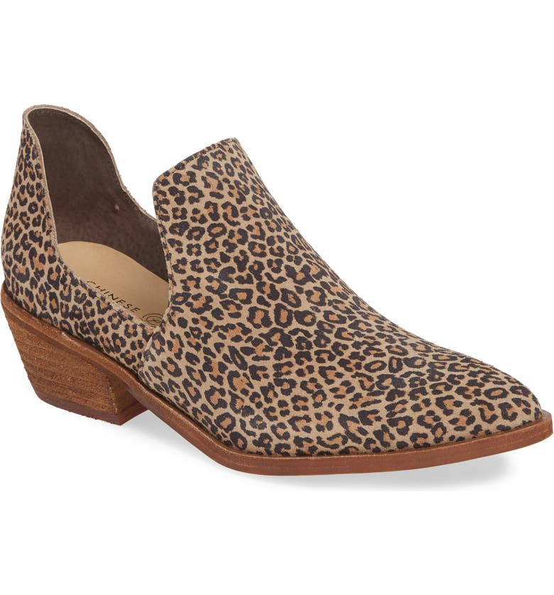 CHINESE LAUNDRY Focus Open Sided Bootie, Main, color, NATURAL SUEDE