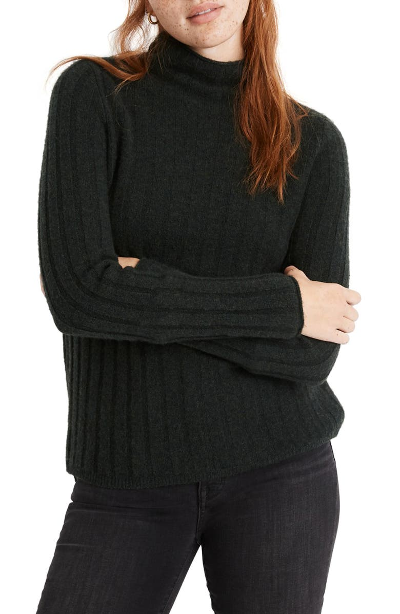 MADEWELL Evercrest Turtleneck Sweater, Main, color, HEATHER PINE