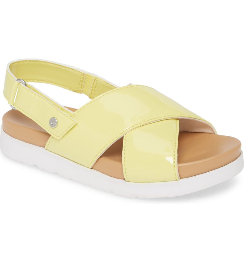 UGG<SUP>®</SUP> Klara Platform Sandal, Main, color, LEMONADE