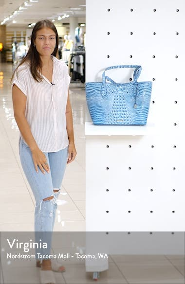 Athen Croc-Embossed Leather Tote, sales video thumbnail