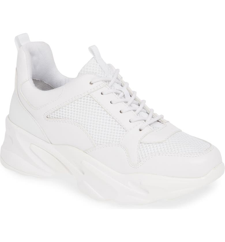 STEVE MADDEN Moving Sneaker, Main, color, WHITE
